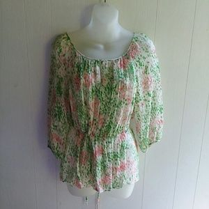 Talbot's Blouse size 6P very light material